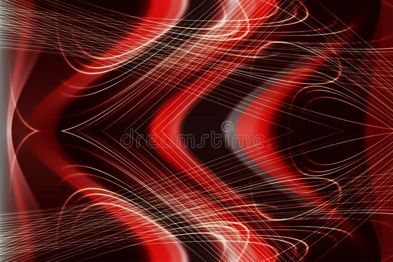 Moderne abstracte achtergrond in high-tech stijl, donkerrode kleur vector illustratie