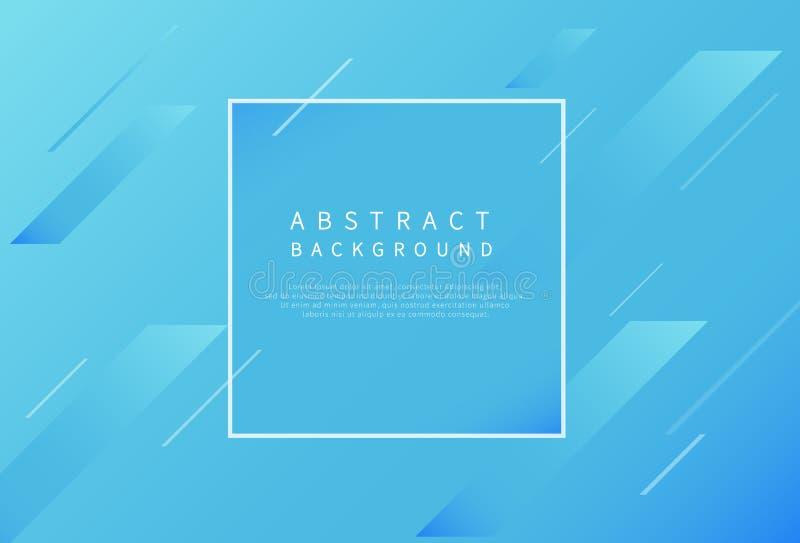 Moderne abstracte achtergrond met diagonale gradiënt blauwe lijnen Vector illustratie vector illustratie