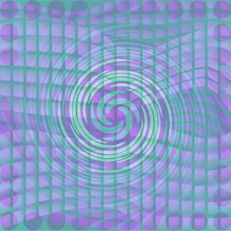 Moderne abstracte achtergrond met draaivorm op mozaïekgebied vector illustratie