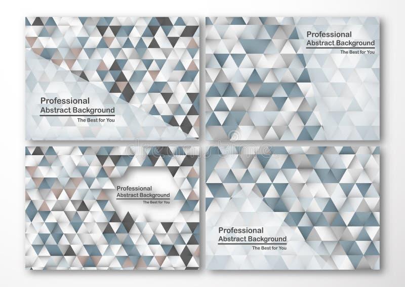 Moderne abstracte achtergrond in veelhoekvorm Reeks van malplaatje des royalty-vrije illustratie