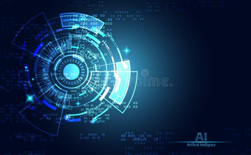 Moderne Abstracte communicatie van het technologieconcept digitale cirkel royalty-vrije illustratie