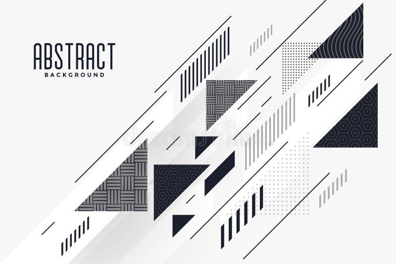 Moderne abstracte driehoek en van de lijnensamenstelling achtergrond stock illustratie