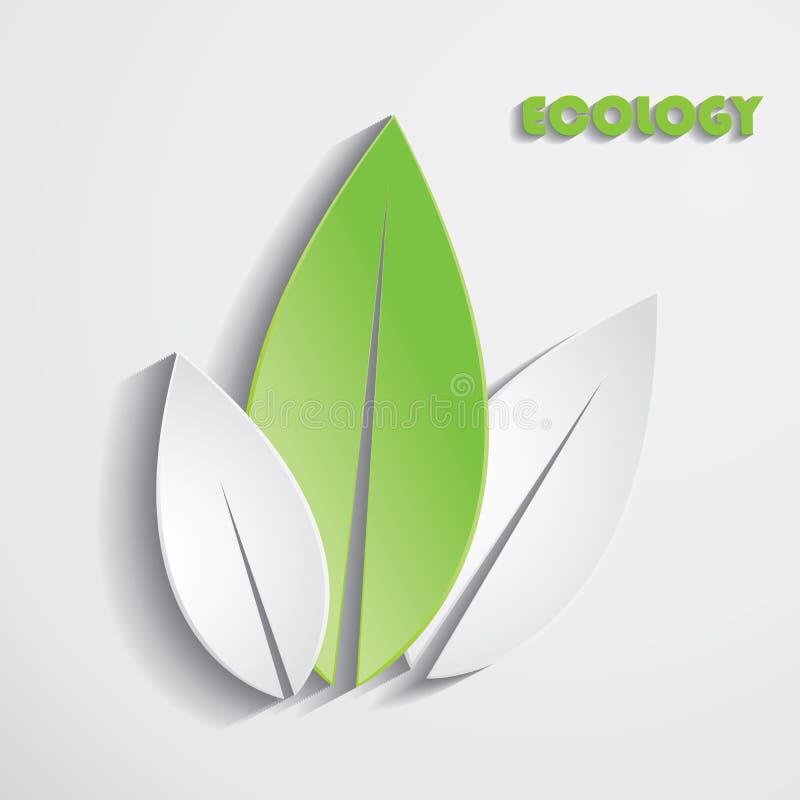 Moderne abstracte groene bladerenachtergrond. Het malplaatje van de ontwerpecologie stock illustratie