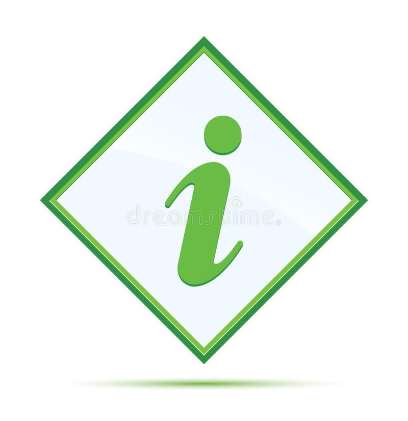 Moderne abstracte groene de diamantknoop van het informatiepictogram stock illustratie
