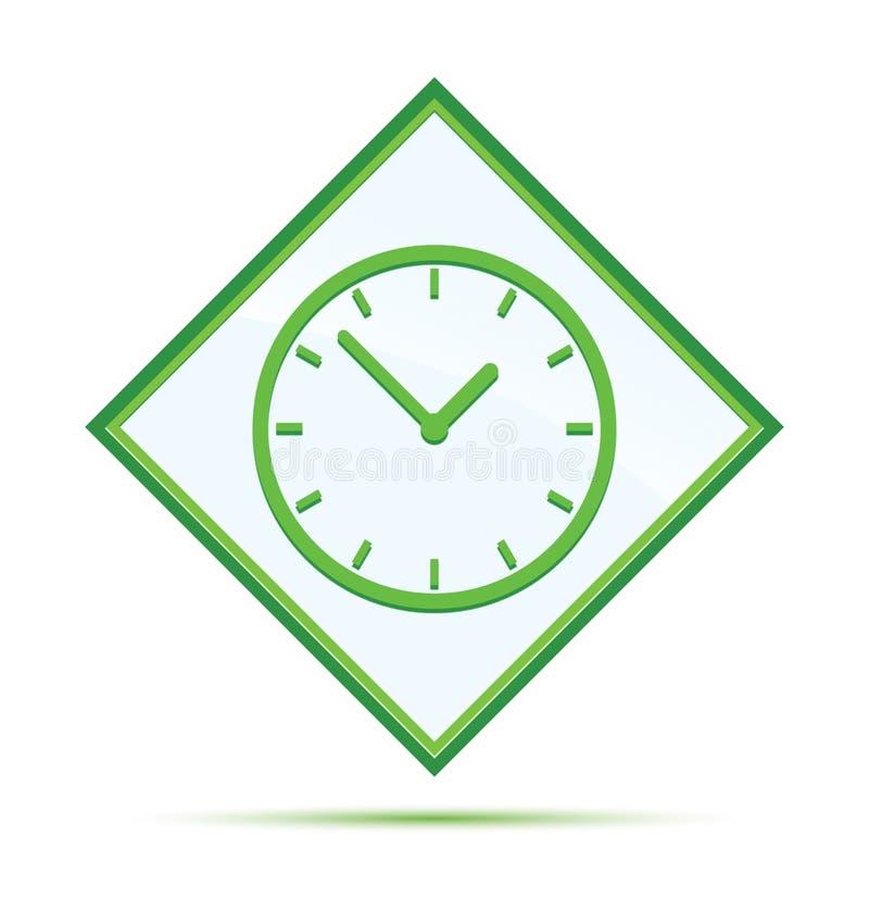 Moderne abstracte groene de diamantknoop van het klokpictogram royalty-vrije illustratie