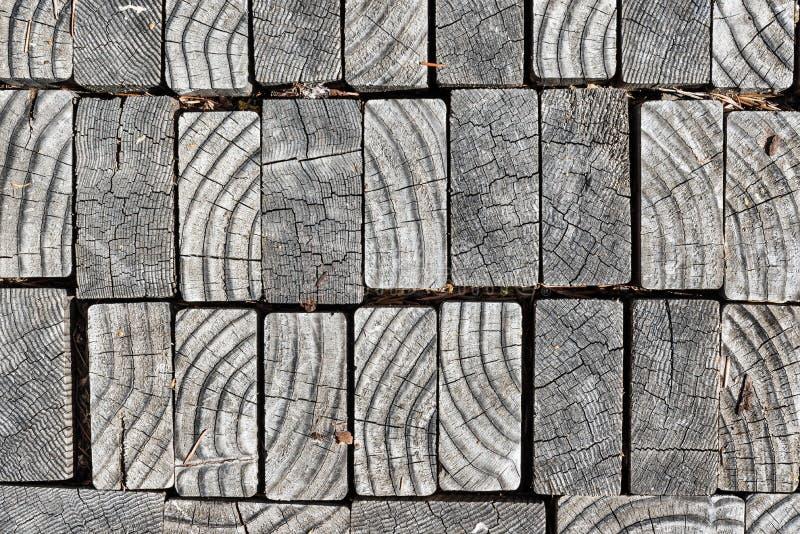 Moderne abstracte houten bestrating stock afbeeldingen