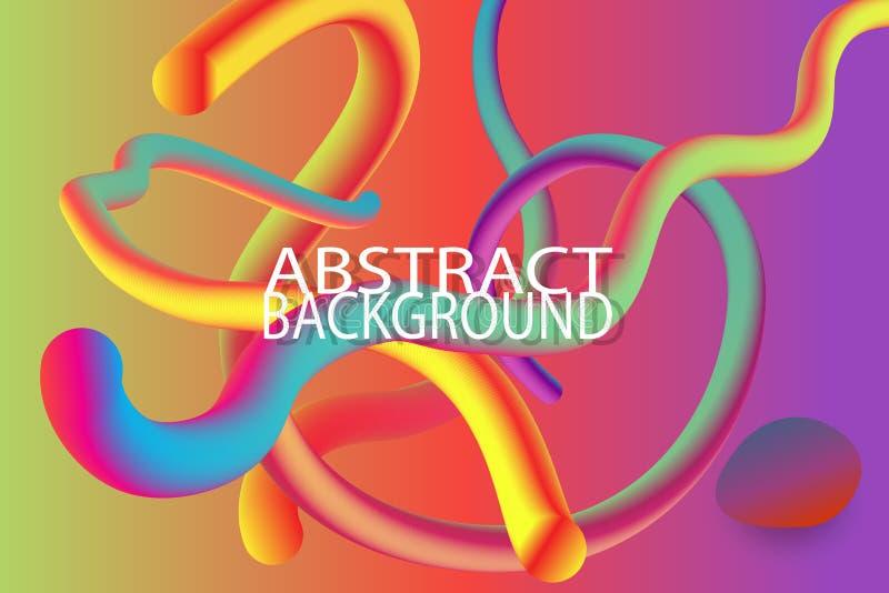Moderne abstracte kleurrijke organische vorm als achtergrond met gradiënt royalty-vrije illustratie