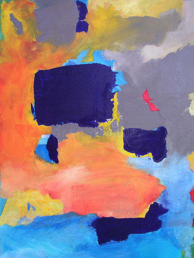 Moderne Abstracte Kunst die - schildert - Achtergrond vector illustratie
