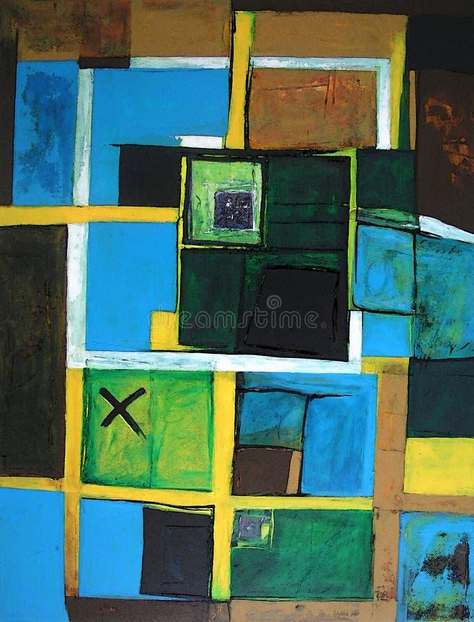Moderne Abstracte Kunst - Origineel Kunstwerk vector illustratie