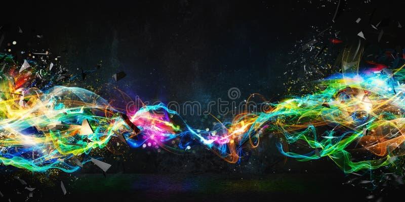 Moderne abstracte motiebanner op donkere achtergrond royalty-vrije stock foto