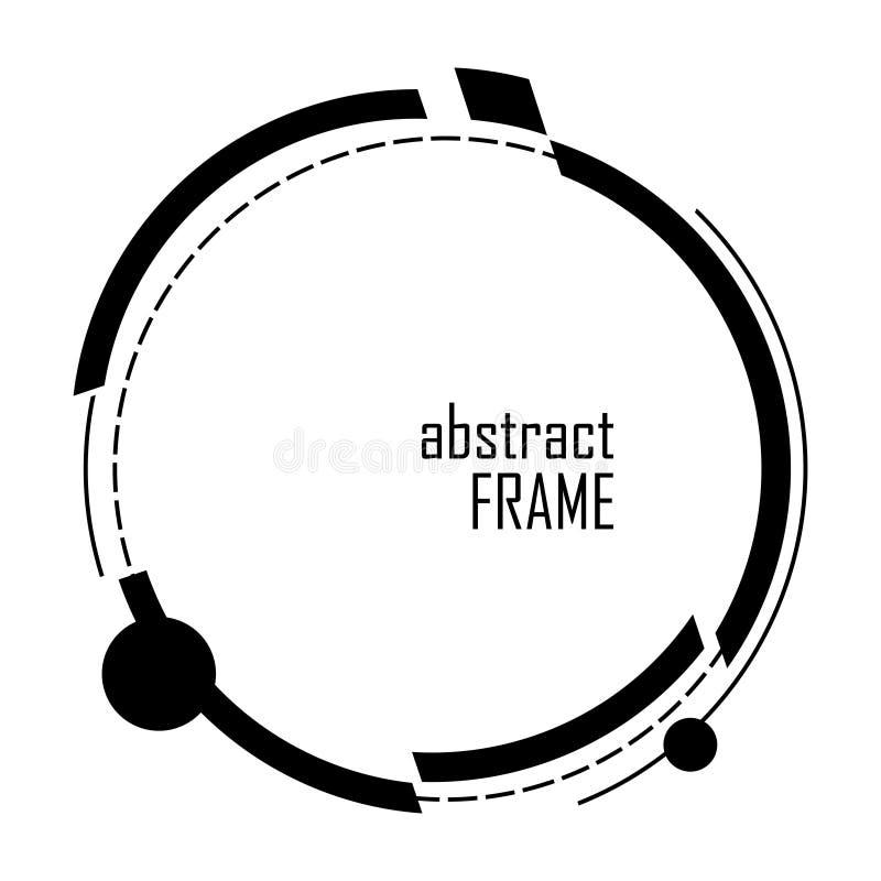 Moderne abstracte vectorbanner Vlakke geometrische gestalte gegeven cirkel fram stock illustratie