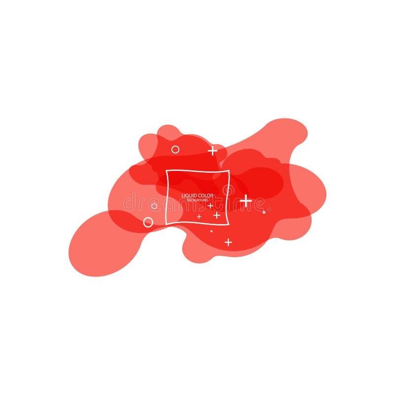 Moderne abstracte vectorbanner Vlakke geometrische vloeibare vorm met het leven koraalkleuren Modern vectormalplaatje, Malplaatje vector illustratie