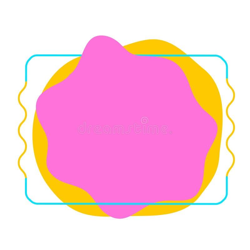 Moderne abstracte vectorbanners Vlakke geometrische vormen van verschillende kleuren royalty-vrije illustratie