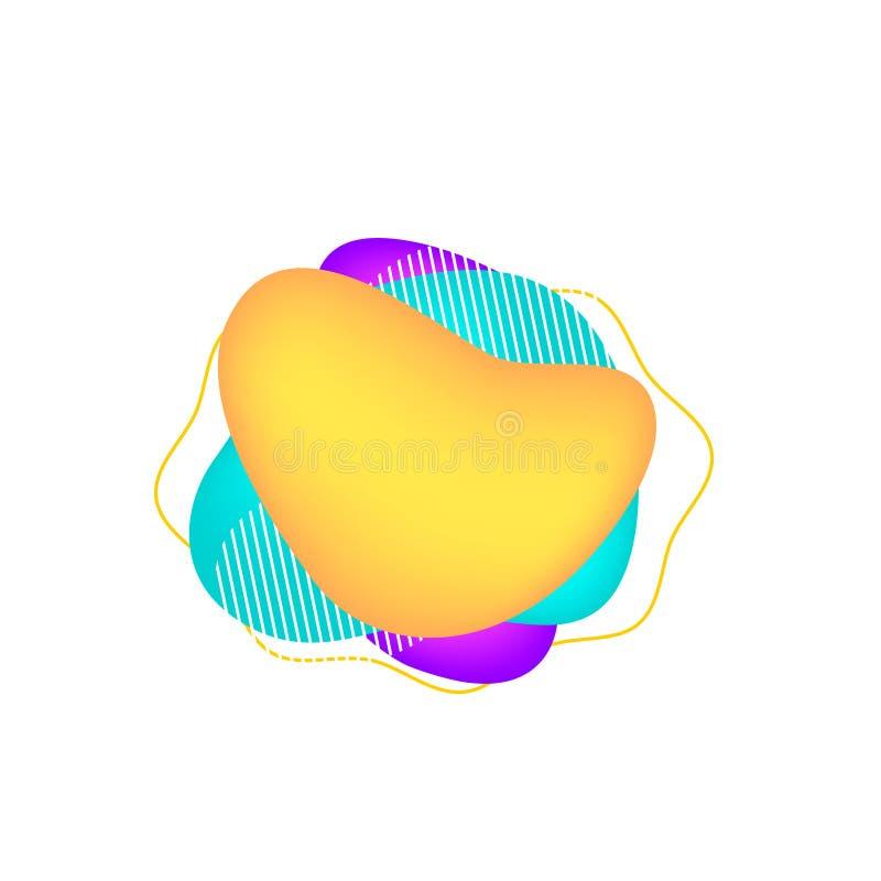 Moderne abstracte vectorbanners Vlakke geometrische vormen van verschillende kleuren stock illustratie