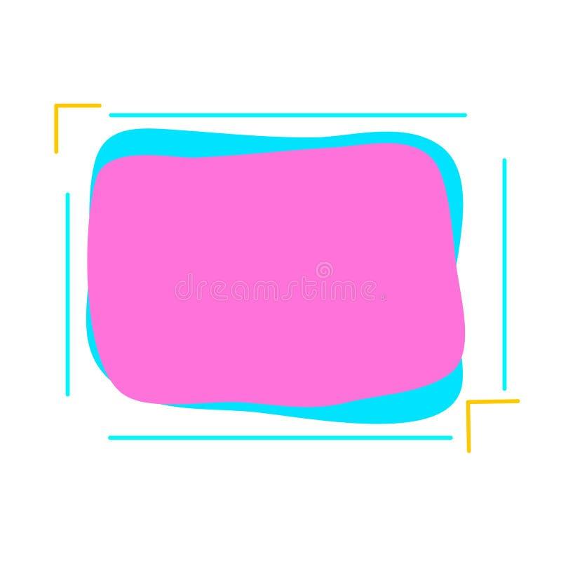 Moderne abstracte vectorbanners Vlakke geometrische vormen van verschillende kleuren vector illustratie