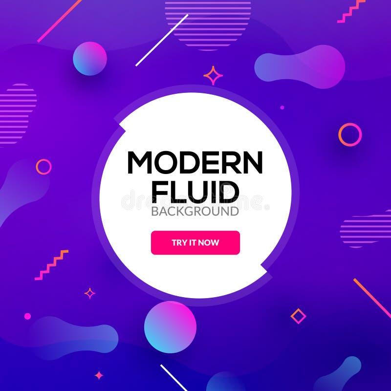 Moderne abstracte vloeibare gradiënt als achtergrond De vloeibaar grafisch creatief affiche van de ontwerpbanner of vliegermalpla vector illustratie