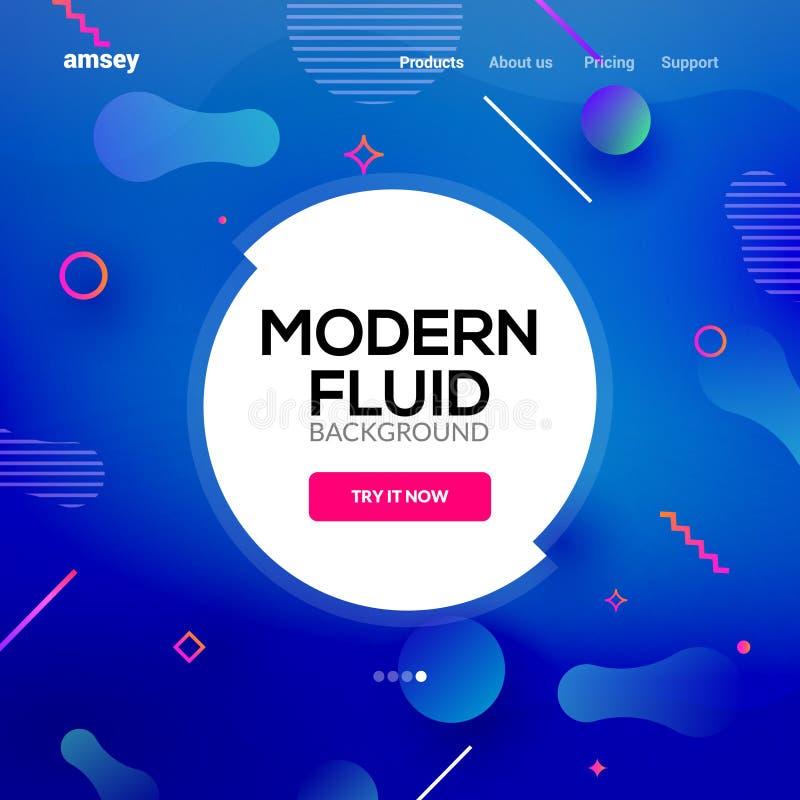 Moderne abstracte vloeibare gradi?nt als achtergrond De vloeibaar grafisch creatief affiche van de ontwerpbanner of vliegermalpla royalty-vrije illustratie