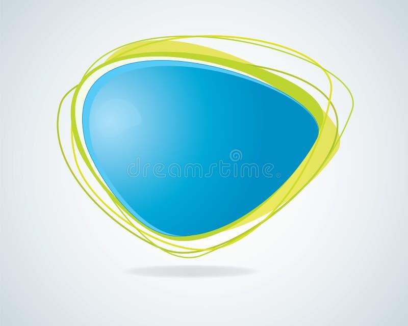 Moderne abstrakte blaue Spracheluftblase stock abbildung