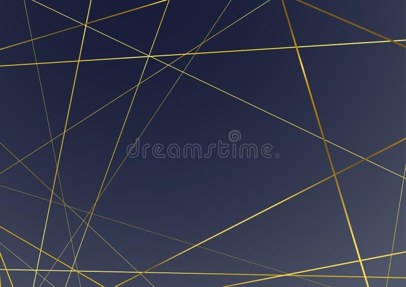 moderne abstrakte goldene Rahmenlinie Hintergrund Kunst-Deco-Art vektor abbildung