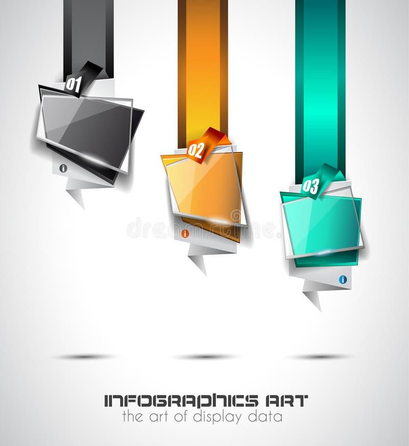 Moderne abstrakte Infographic-Schablone, zum von Daten anzuzeigen lizenzfreie abbildung