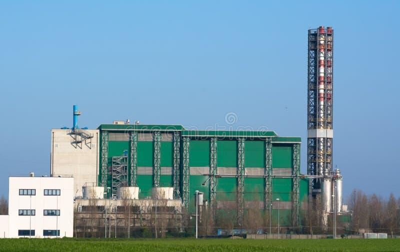 Moderne afval en industrieel afvalverbrandingsinstallatie royalty-vrije stock foto