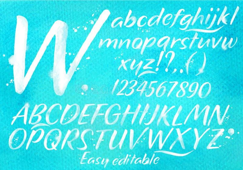 Moderne alfabet blauwe achtergrond vector illustratie