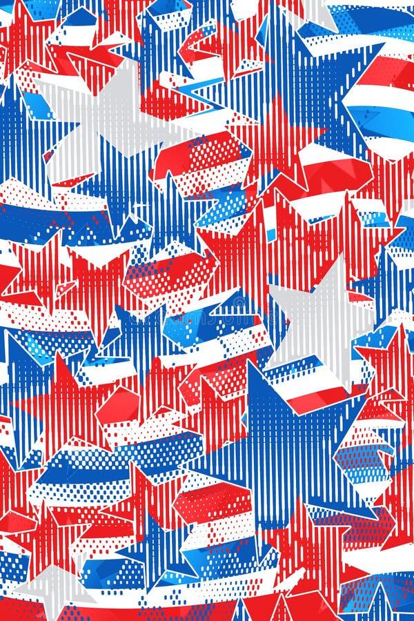 Moderne Americanagrafik lizenzfreie abbildung