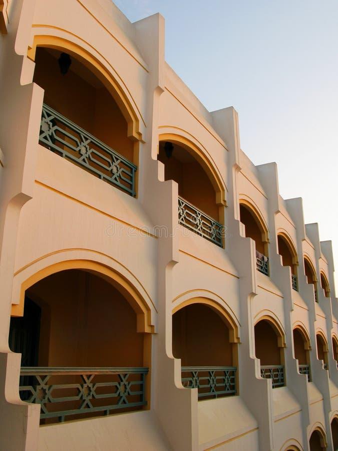 Moderne arabische Architektur lizenzfreie stockbilder