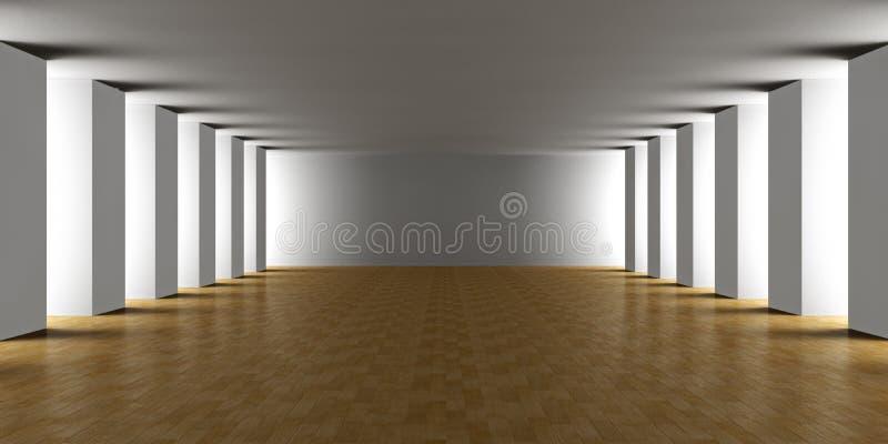 Moderne Architectuur - Binnenland stock illustratie