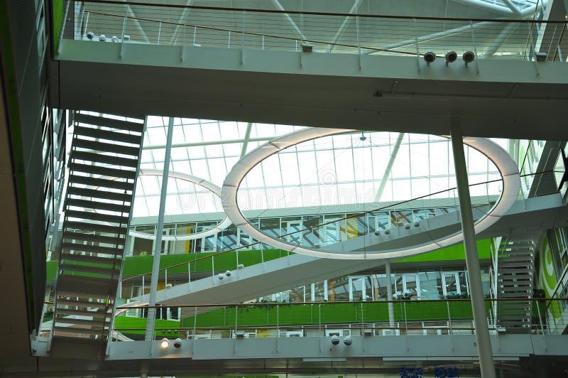 Moderne architectuur, de bouw binnenlands ruimteontwerp royalty-vrije stock foto