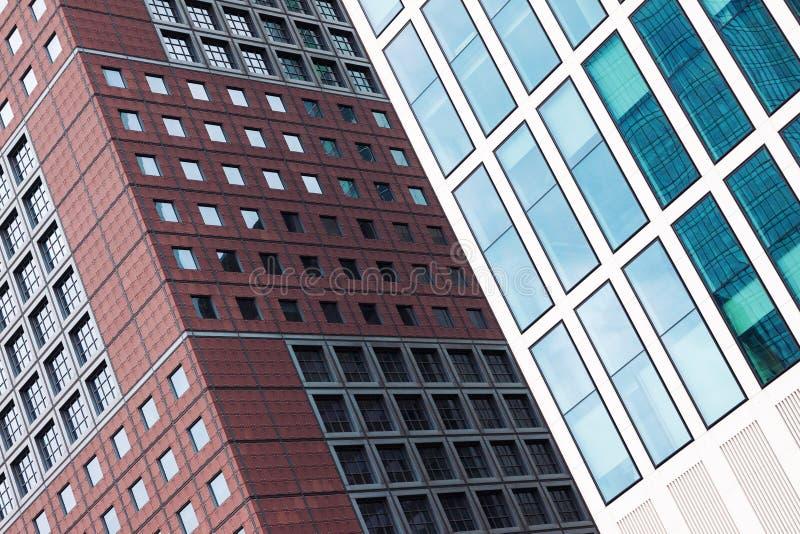 Moderne architectuur de bouwachtergrond stock afbeelding