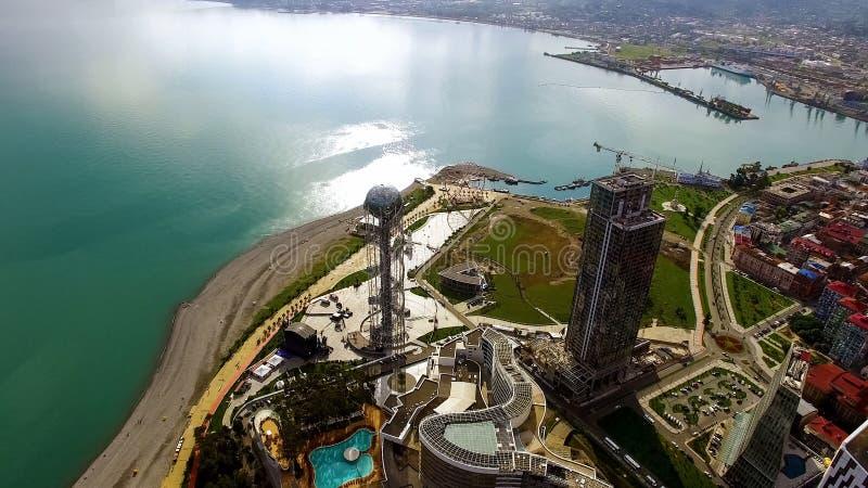 Moderne architectuur op Batumi-kustlijn, Georgische sightseeingscityscape, reis royalty-vrije stock foto