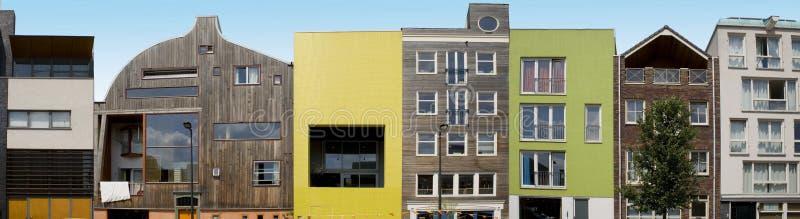 Moderne architectuur op IJburg, Amsterdam stock afbeeldingen