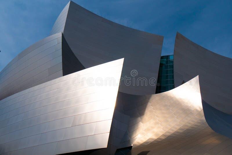 Moderne architectuur van Disney-Concertzaal in Los Angeles - Californi?, de V.S. - 18 Maart, 2019 stock foto