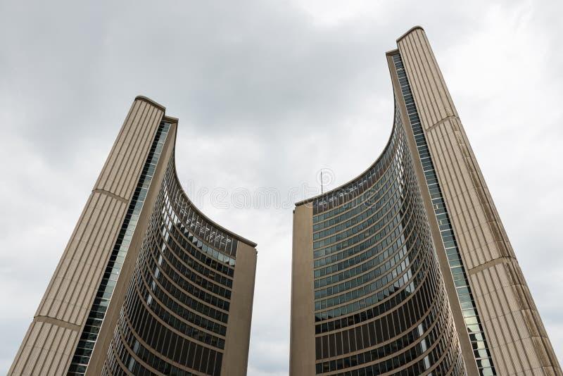 Moderne architectuur van het Stadhuis, Toronto stock foto