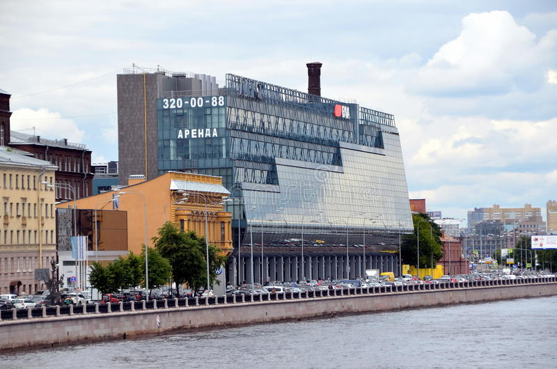 Moderne architectuur van St. Petersburg stock foto's