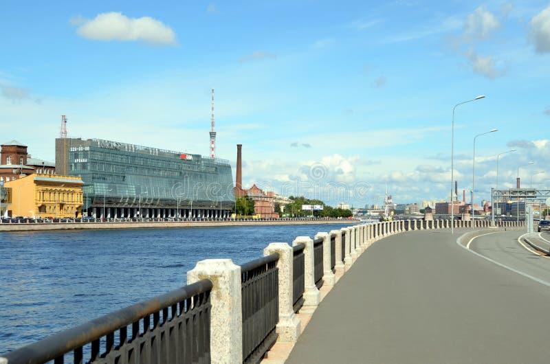 Moderne architectuur van St. Petersburg royalty-vrije stock afbeelding
