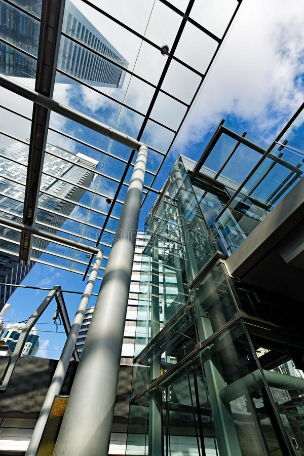Moderne Architectuur, Woontorens, Chatswood, Sydney, Australië royalty-vrije stock foto's