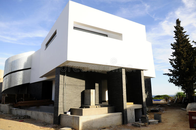Moderne Architektur - Haupteingang, Bau stockbilder