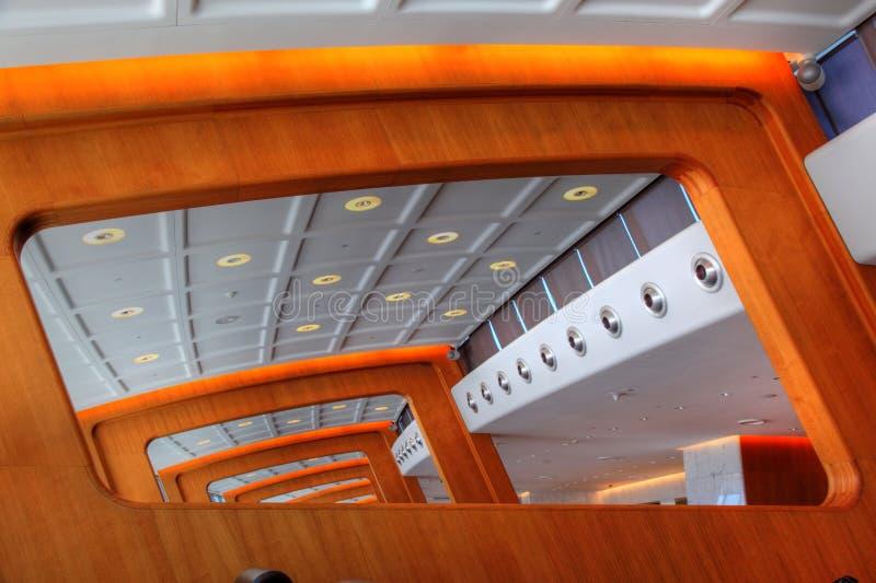 Moderne Architektur-Lichtstrahlen lizenzfreie stockfotografie