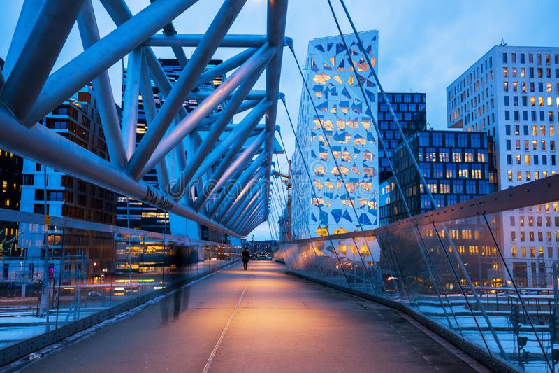 Moderne Architektur Oslo lizenzfreie stockbilder