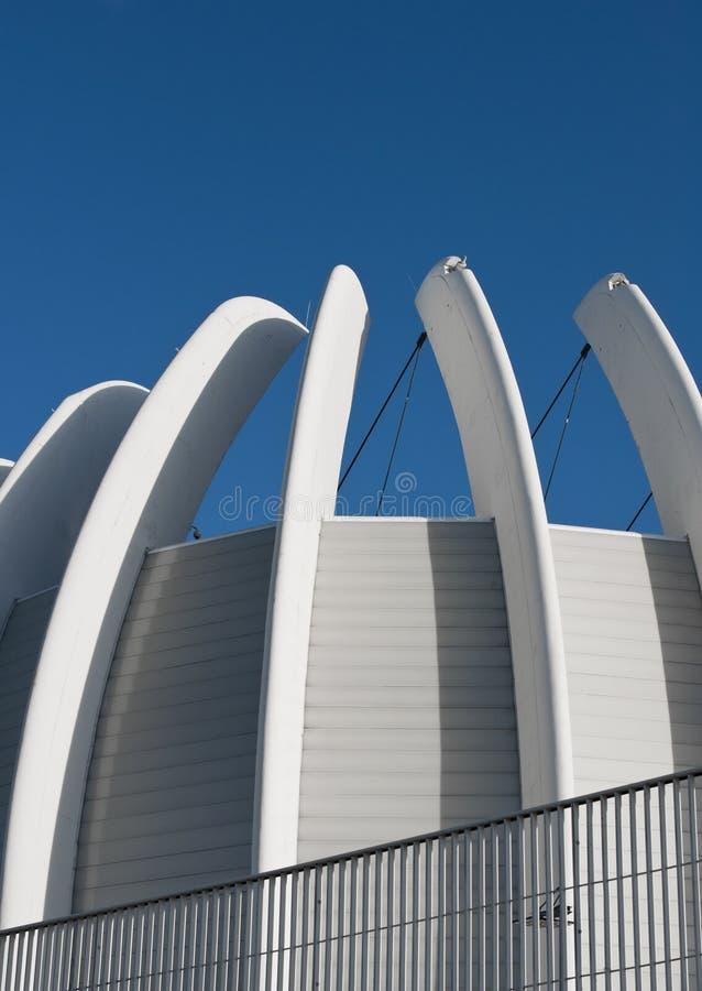Moderne arena in Zagreb, Kroatië stock afbeelding