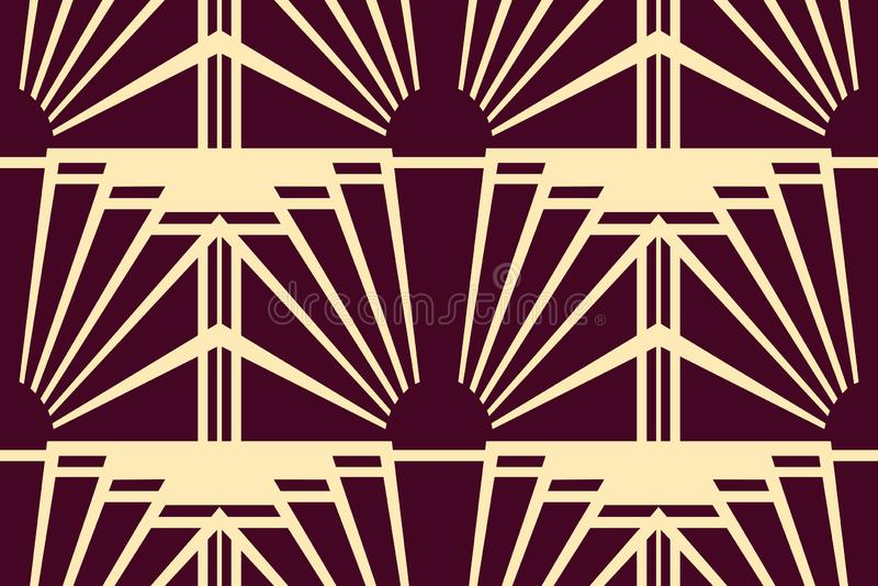 Moderne Art Deco-achtergrond royalty-vrije illustratie