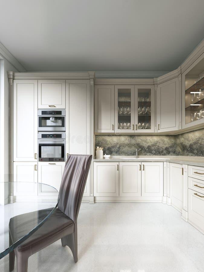 Nieuw Keuken In De Art Deco-stijl Stock Illustratie - Illustratie PI-01