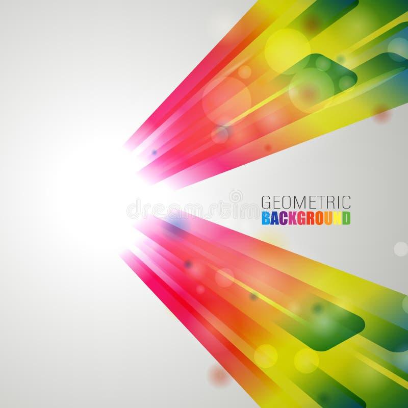 Moderne Artabstraktion mit der Zusammensetzung gemacht von den verschiedenen abgerundete Form in der Farbe Auch im corel abgehobe vektor abbildung