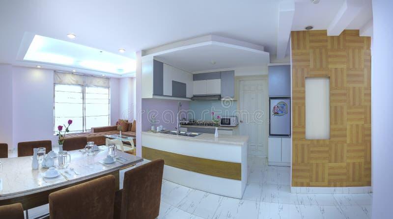 download moderne artwohnung kombiniert wohnzimmer esszimmer groer raum redaktionelles stockfoto bild 92693568 - Wohnzimmer Esszimmer Kombiniert