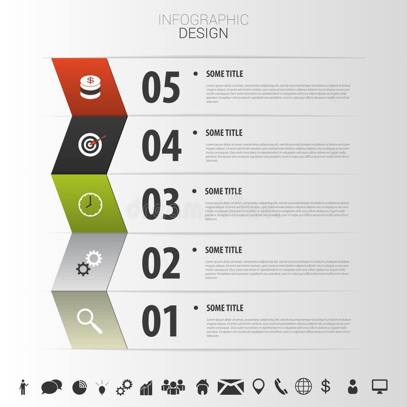 Moderne Auslegung Infographic-Schablone mit Ikonen Vektor vektor abbildung