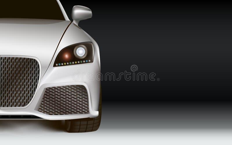 Moderne Auto. Donkere achtergrond met exemplaarruimte vector illustratie
