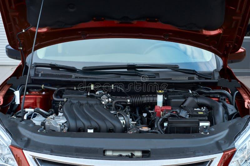 Moderne auto met open kap royalty-vrije stock foto's