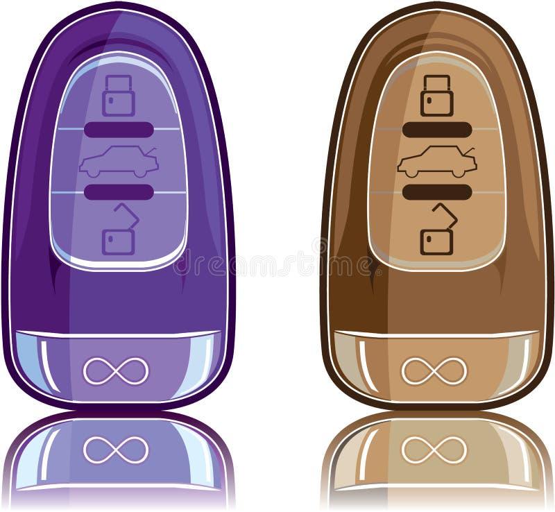 Moderne Autotaste stock abbildung